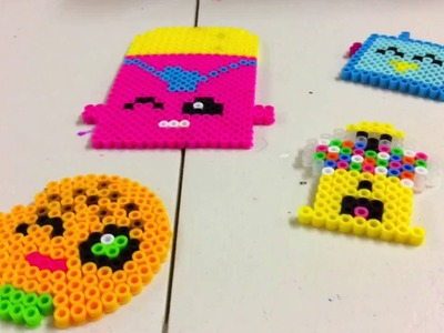 DIY Shopkins Perler Beads. Cheeky Chocolate