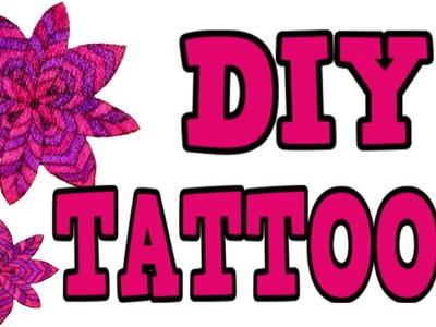 DIY TEMPORARY TATTOOS! 3 Different Ways! EASY Diy Tattoos! Great for kids too!