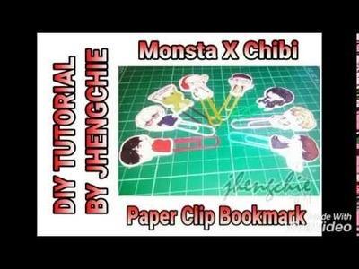 DIY TUTORIAL KPOP Paper Clip Bookmark ft. Monsta X chibi