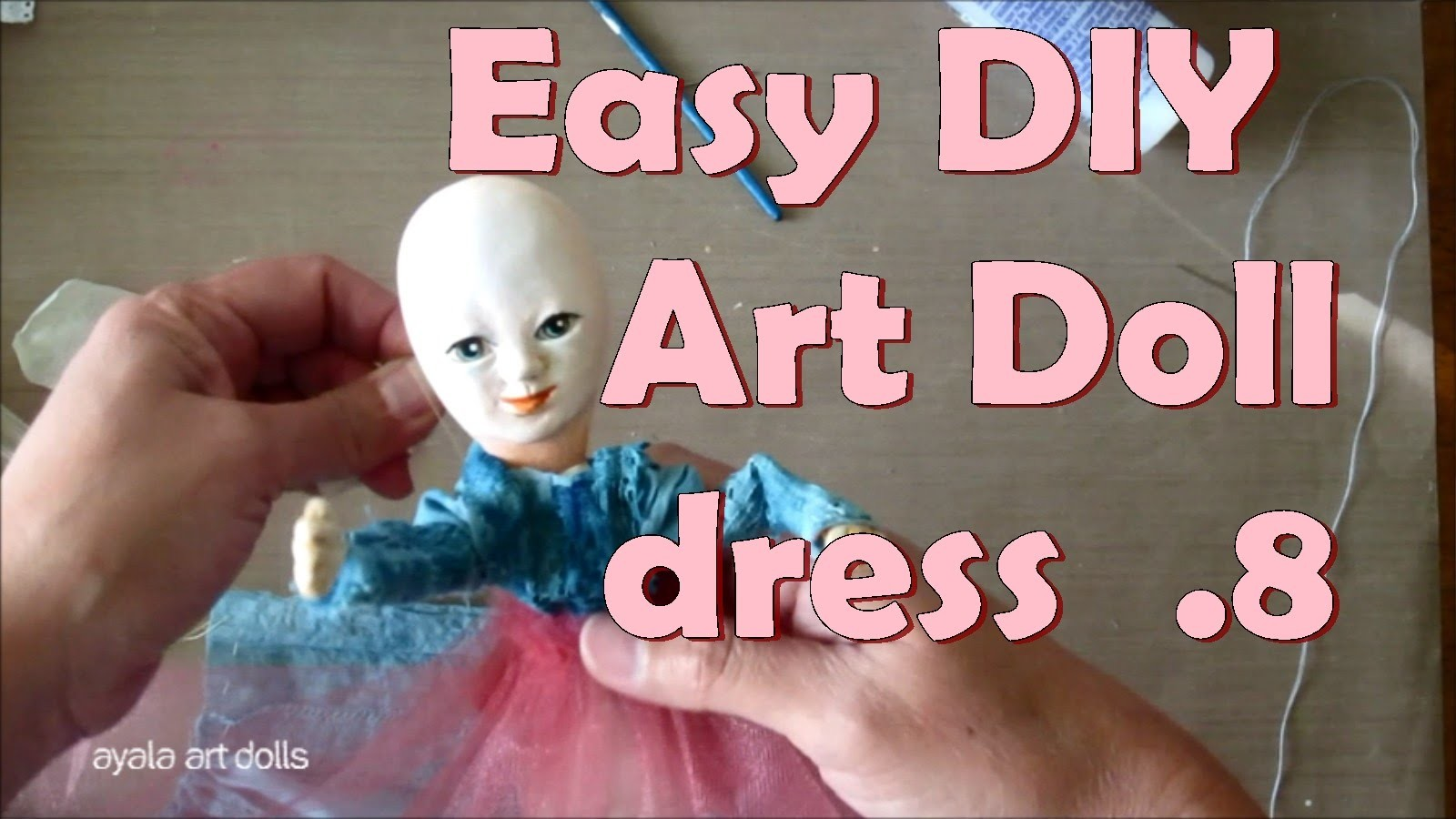 Easy DIY Art Doll dress. How to make a doll dress. Fairy Queen 08