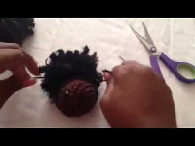 How to add Afro Puffs to Crochet Doll