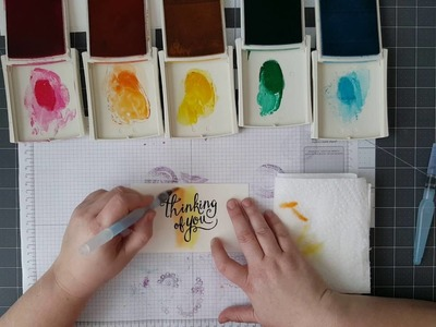 How to create a Rainbow Watercolor Wash