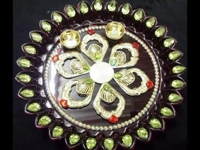 How to decorate Thali at home.Thali.DIY Thali.Thali Decoration.DIY.Easy and Simple Thali Decoration