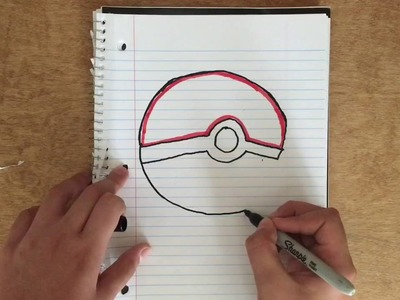 How to draw a pokeball!!!