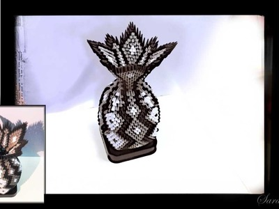 How to make 3d origami vase 21 - part 3