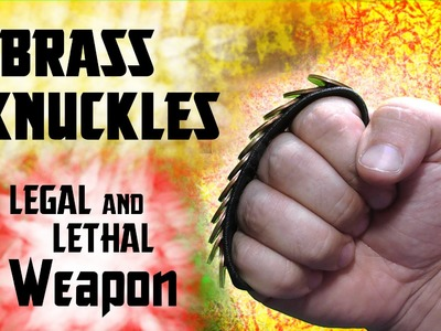 ✔ How to make a bracelet brass knuckles legal to carry legally the police and customs Lethal Weapon