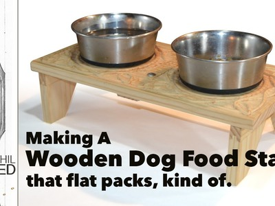 How to Make a Dog Bowl Stand for Camping with Hand Tools
