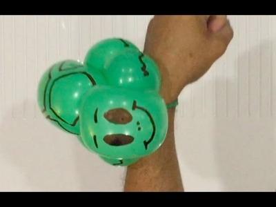 How to make a fat turtle bracelet -  balloon animal tutorial