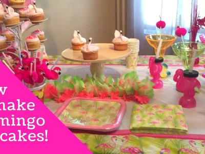 How to make a Flamingo cupcakes.Flamingo Theme Birthday