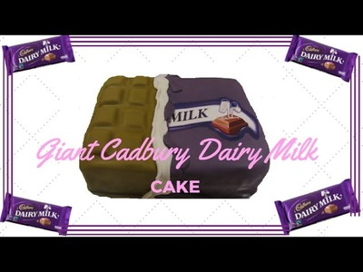 How To Make A Giant Cadbury Dairymilk Chocolate Bar Cake