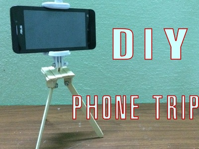 How to make a phone tripod with popsicle sticks