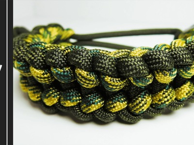 How to make a Reverse Jagged Ladder Rack Paracord Bracelet [MAD MAX STYLE] [UWA ORIGINAL]