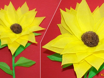 How to make a Tissue Paper Sunflower? DIY