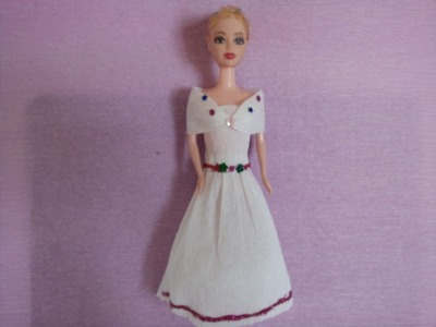 How to make a wedding dress for Barbie Part 3 | Làm váy cưới cho búp bê Barbie Tập 3