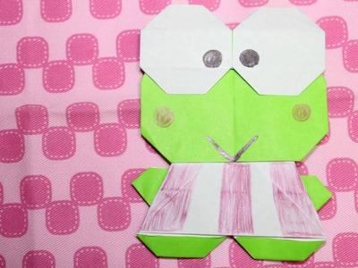 How to make an Cute Origami Character:Keroppi Sanrio