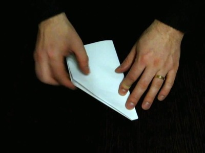 How to Make Cool Paper Airplanes that Fly Far and Straight - The Classical Glider - Slow Motion