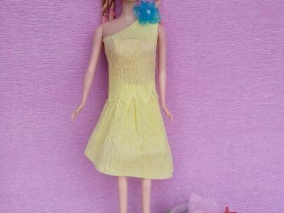 How to make paper dresses for Barbie Part 3  | Làm váy bằng giấy cho búp bê Barbie  Tập 3