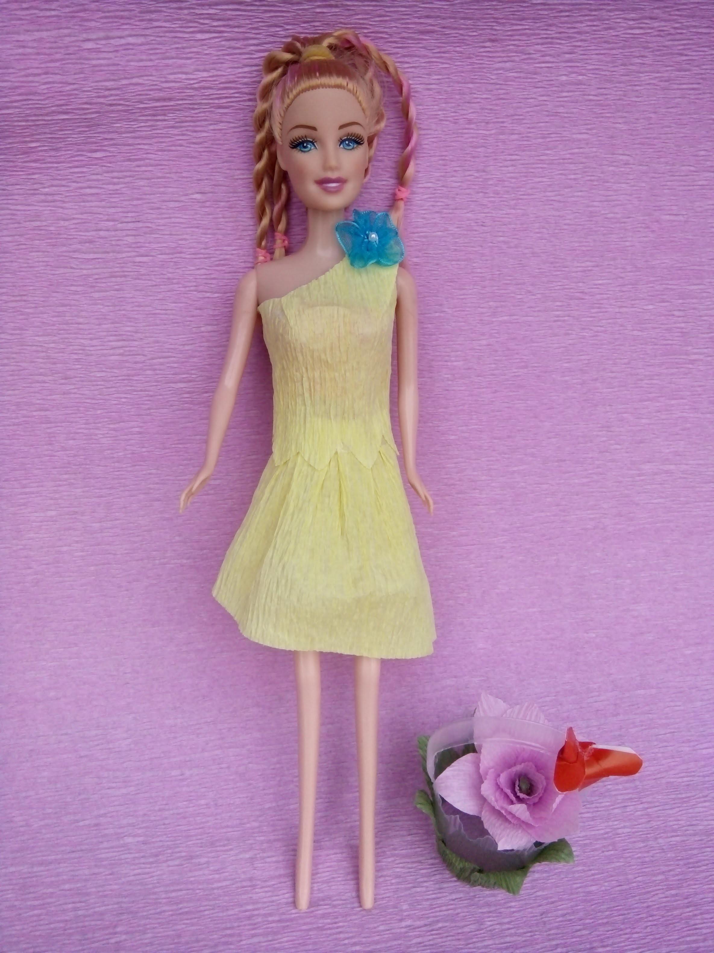 How to make paper dresses for Barbie Part 3    Làm váy bằng giấy cho búp bê Barbie  Tập 3