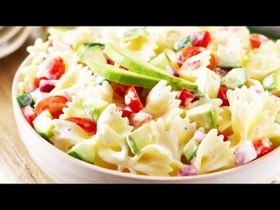 How to make tasty Creamy Pasta Salad Recipe in hindi subtitle