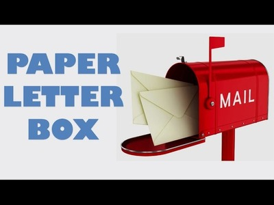 How to make your OWN origami Paper Letter BOX Envelopes Any size at HOME - CRAFT tutorial