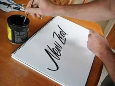 How to paint a flowing script
