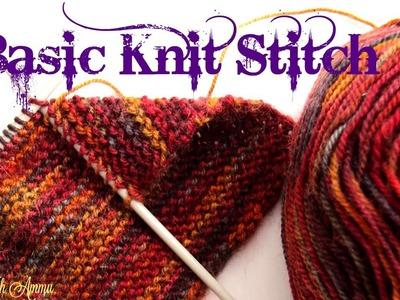 Knitting Basics In Malayalam - Basic Knit Stitch