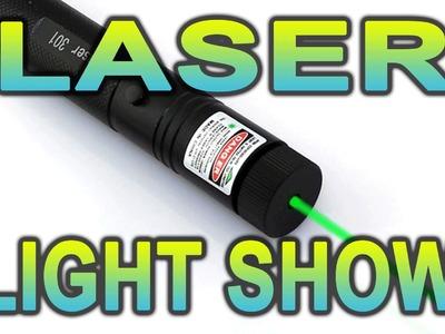 Laser Light Show DIY 4. Beam interrupter & reflector idea (Short)