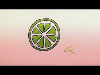 Learn How To Draw A Citrus Slice -- iCanHazDraw!