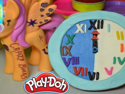 Learn how to make Play Doh Clock Playdough Numbers and Clock Kids Fun Learning Creative for children