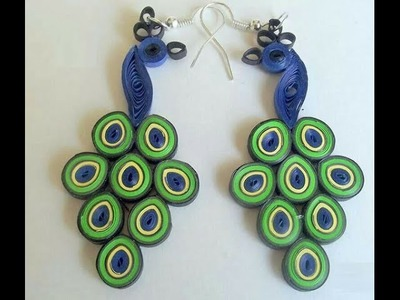 Making Ear Rings With Quilling Paper