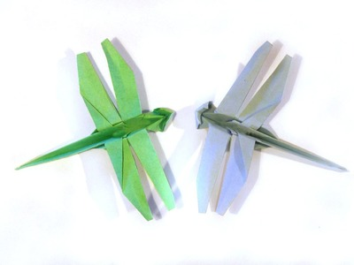 Origami Dragonfly  - Tutorial - How to make an origami Dragonfly
