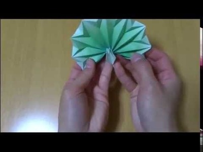 Origami Tutorial - How to make an easy origami peacock