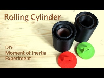 Rolling Cylinder - DIY 3D Printed - Moment of Inertia Experiment