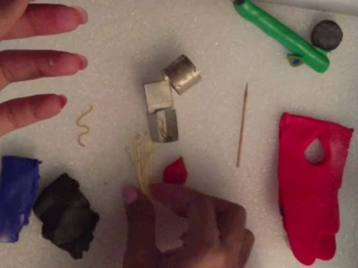Tutorial on how to make a simple polymer clay earring