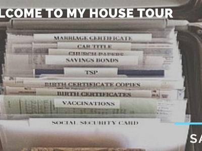 Welcome To My House Tour - How to Keep Important Documents Organized and Safe