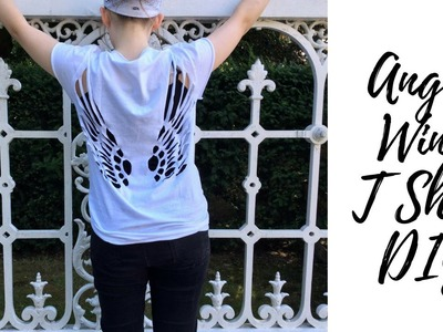 Angel Wing T shirt DIY | Tumblr & Pinterest Inspired