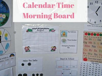 DIY Calendar Time Morning Board for Preschool and Kindergarten