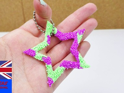 DIY Foam Clay Keychain | Make your own star keychain