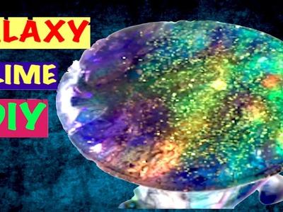 DIY GALAXY SLIME !! Make Glitter Slime-Clear Galaxy Slime
