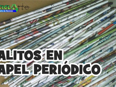 DIY♻PALITOS DE PAPEL PERIODICO. Newsprint STICKS