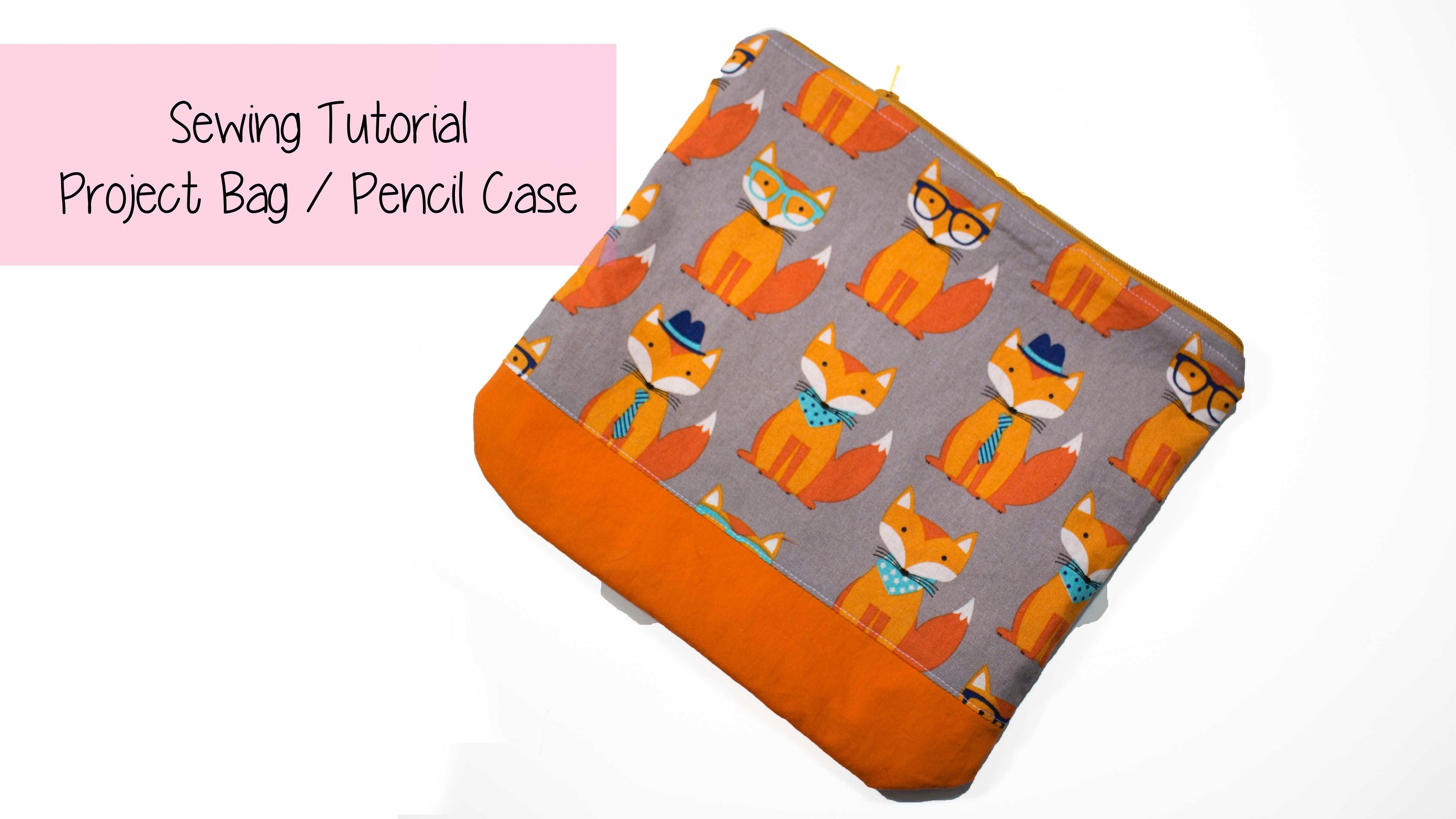 ✂✂ DIY ✂✂  Project Bag. Pencil Case - sewing tutorial