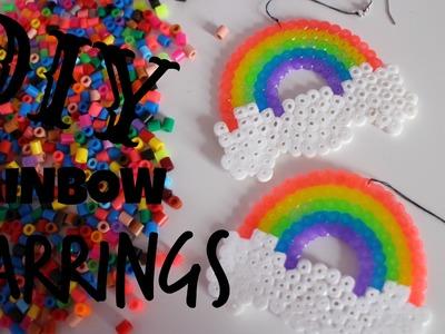 DIY RAINBOW EARRINGS | PERLER.HAMA BEAD EARRINGS | FAKE IT TO MAKE IT #9
