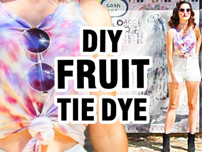 DIY: TIE DYE WITH FRUIT DYE + LOOKBOOK