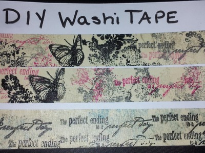 Easiest DIY Decorative Washi Tape No Fuss just fun using Masking Tape, ink, and stamps