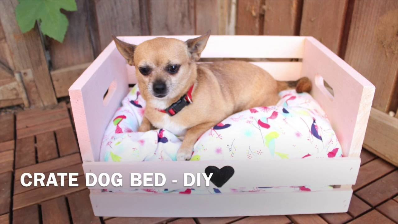 Easy dog crate bed - DIY