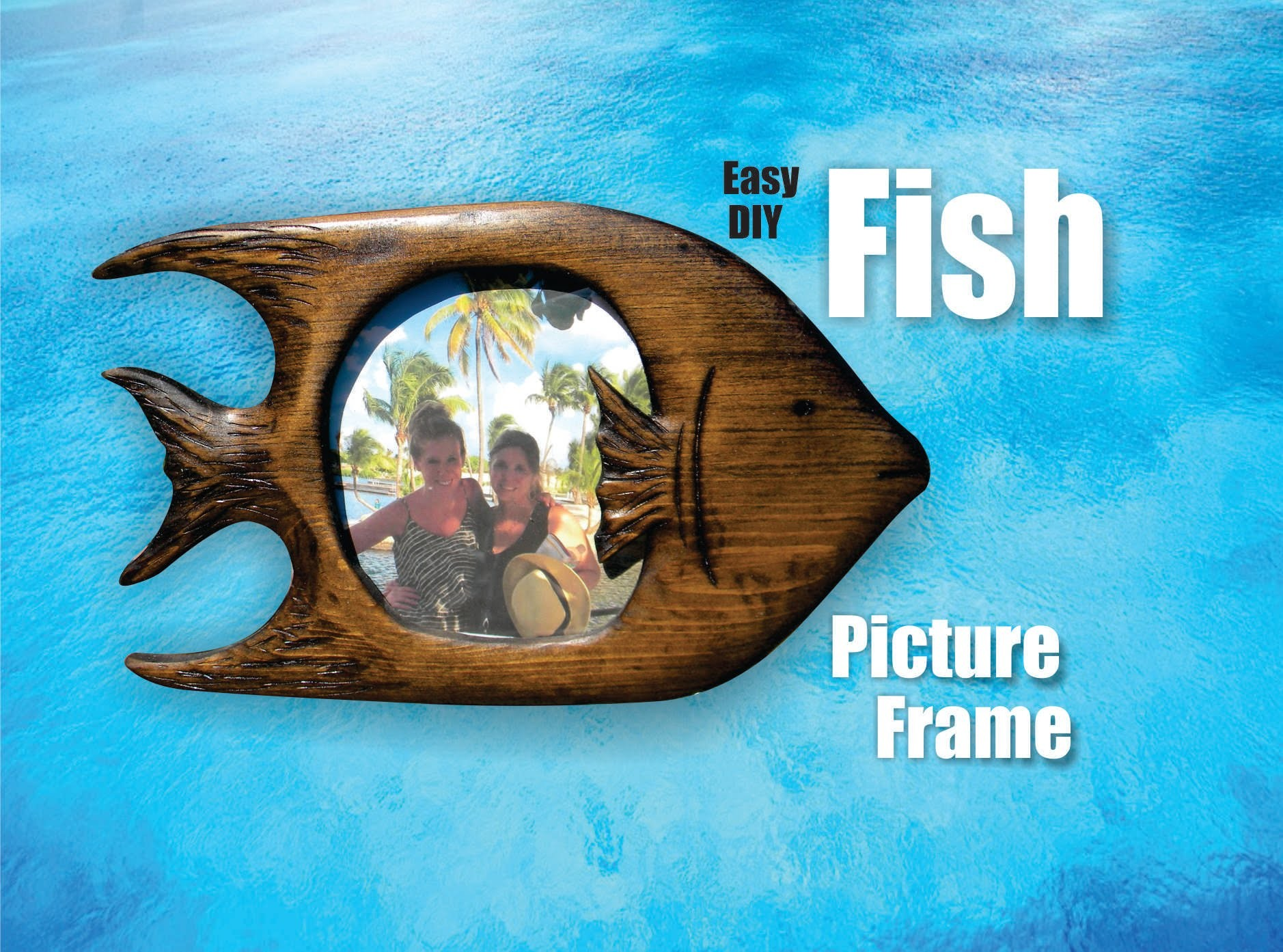 Easy hand carved Fish Picture Frame DIY