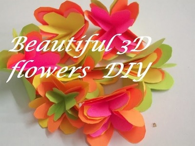How to make 3D paper flowers.How to make paper flowers tutorial