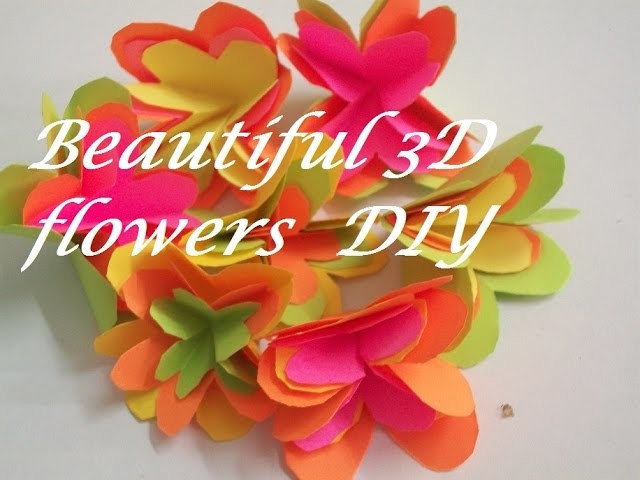 How to make 3d paper flowers to make paper flowers tutorial mightylinksfo