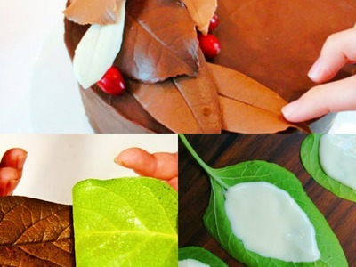 How to make chocolate leaves for decoration