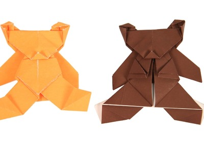 Origami Instructions Bear | How to Make Origami Bear | Kids Origami | How to Make Origami Animals |